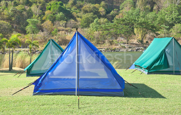 tourist camping tent Stock photo © FrameAngel