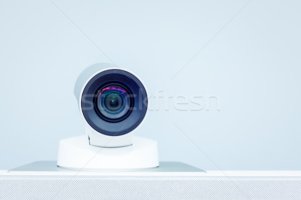 teleconference, video conference and telepresence camera Stock photo © FrameAngel