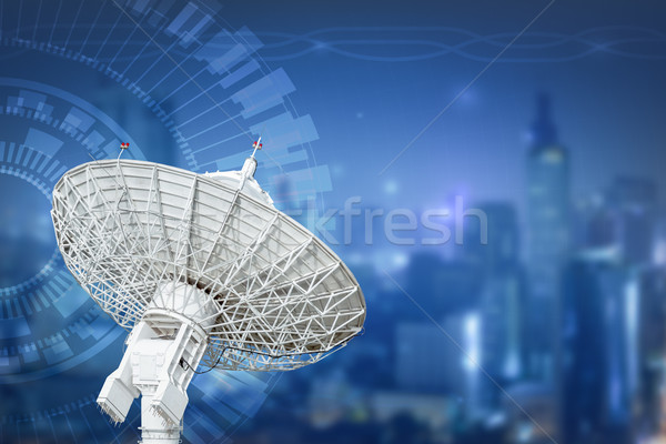 satellite dish antenna radar big size isolated on white backgrou Stock photo © FrameAngel