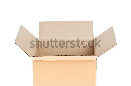 Open Corrugated cardboard box isolated on white background Stock photo © FrameAngel