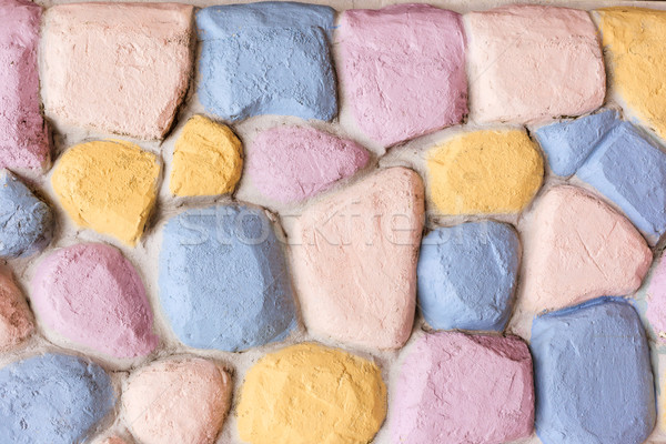 brick or rock wall color background Stock photo © FrameAngel
