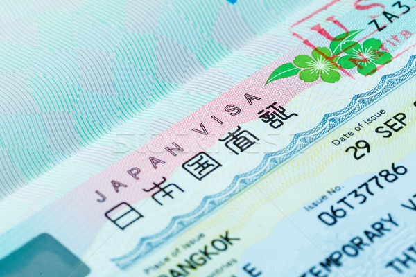 Passport stamp for travel concept background Stock photo © FrameAngel