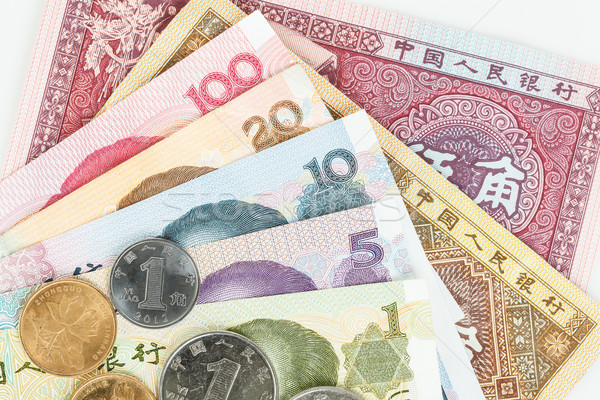 Chinese or Yuan banknotes money and coins from China's currency, Stock photo © FrameAngel