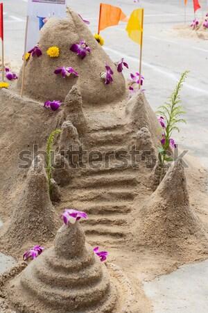 Piasku pagoda ceremonia kulturalny rzeźba Zdjęcia stock © FrameAngel