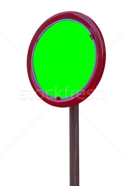 Foto stock: Espelho · reflexão · canto · tráfego · verde · tela
