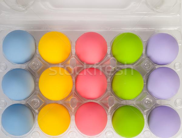 Kleurrijk eieren vakantie Pasen festival plastic Stockfoto © FrameAngel