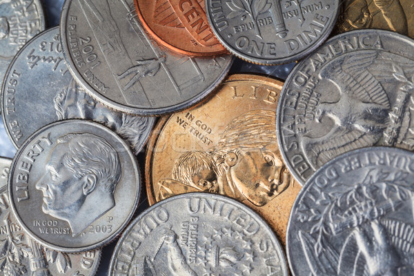 Grupo americano moneda dios confianza fondo Foto stock © FrameAngel