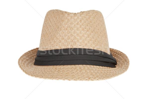 лет Панама соломенной шляпе фон голову Hat Сток-фото © FrameAngel