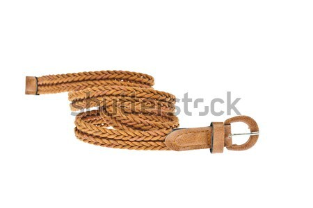 colorful brown belt  on white background Stock photo © FrameAngel