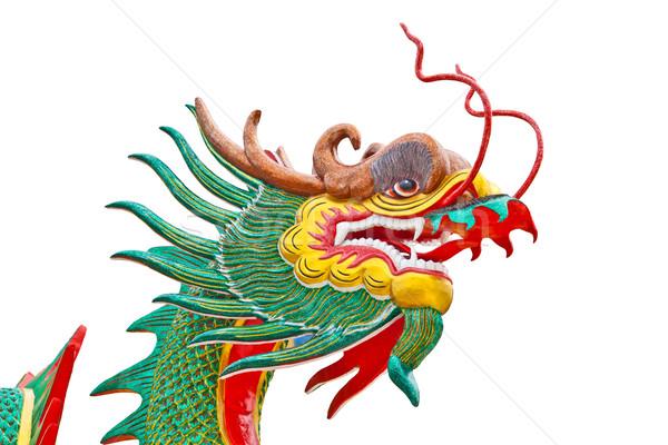 Dragon scultura Thailandia tempio blu viaggio Foto d'archivio © FrameAngel