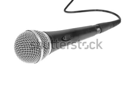 Micrófono karaoke fondo radio cable comunicación Foto stock © FrameAngel