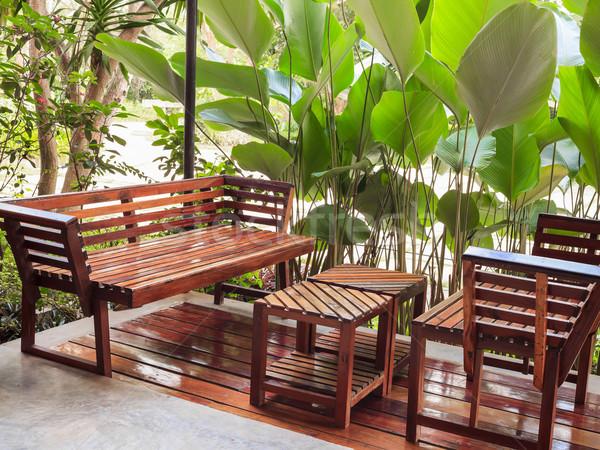 ダイニングテーブル 椅子 庭園 自然 家具 工場 ストックフォト © FrameAngel