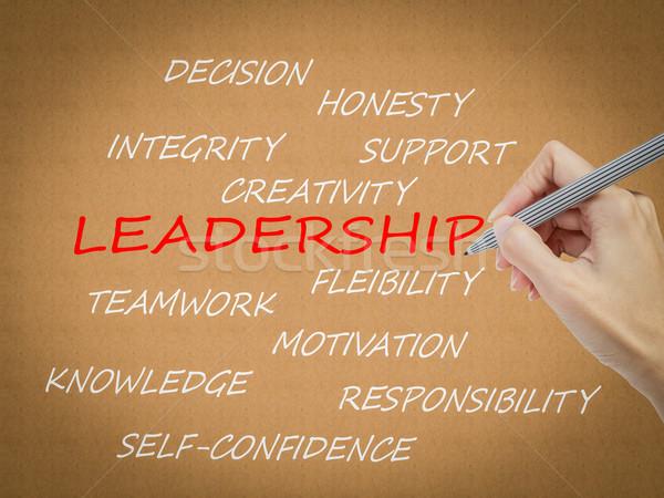 hand writing leadership concept Stock photo © FrameAngel