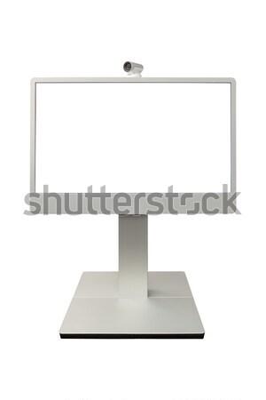 Teleconferentie video conferentie camera display geïsoleerd Stockfoto © FrameAngel