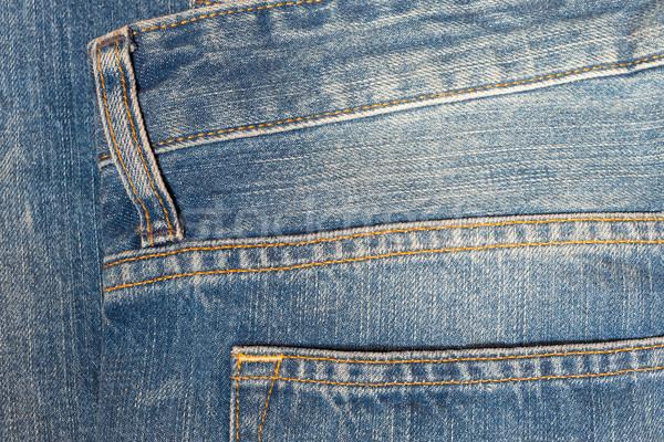 Denim texture or back of jean trouser for background Stock photo © FrameAngel