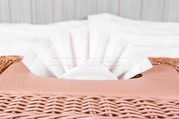 tissue box, plastic wicker  Stock photo © FrameAngel