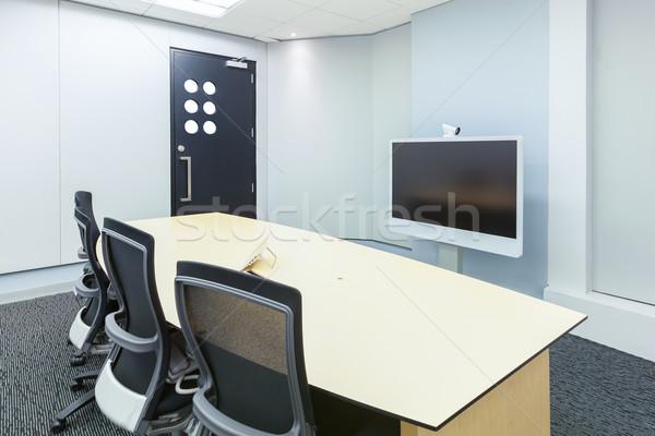 Video conferentie business zakelijke bijeenkomst kamer display Stockfoto © FrameAngel