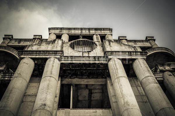 Elhagyatott épület konzerv horror film jelenet Stock fotó © FrameAngel