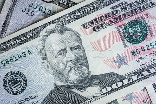 'Ulysses S. Grant' face on US fifty or 50 dollars bill macro, banknotes background, american dollar, Stock photo © FrameAngel