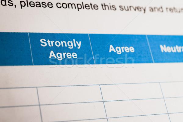 Vásárlói elégedettség felmérés jelölőnégyzet konzerv doboz siker Stock fotó © FrameAngel