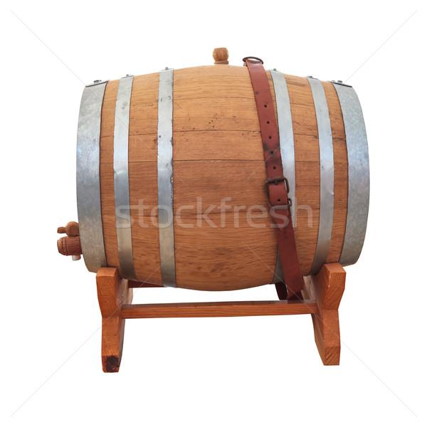 Vino barril vino blanco blanco fondo retro Foto stock © FrameAngel