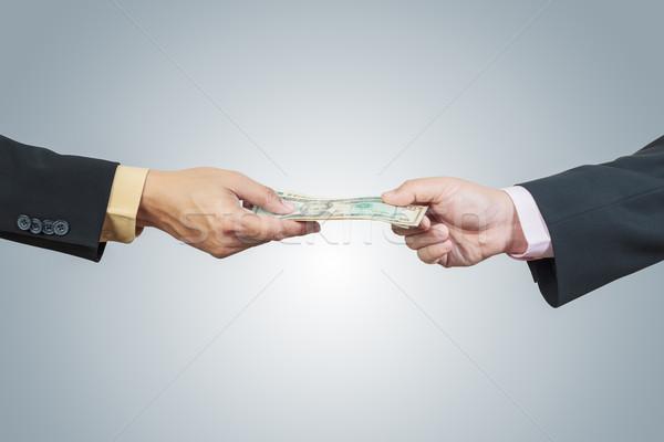 Affaires main argent autre corruption blanche Photo stock © FrameAngel