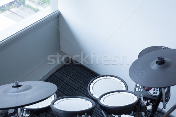 Electronic drum set in the room corner as musical background tec Stock photo © FrameAngel