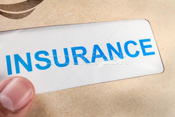 Verzekering beweren vorm bruin envelop kan Stockfoto © FrameAngel
