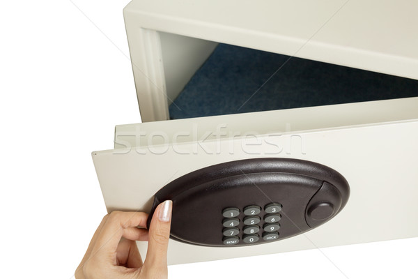 hand open safety box Stock photo © FrameAngel