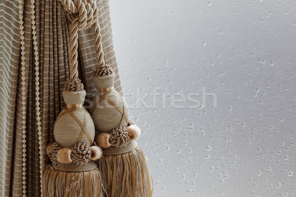 Luxury curtain and tassel Stock photo © FrameAngel