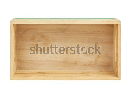 empty wooden crate,top view Stock photo © FrameAngel