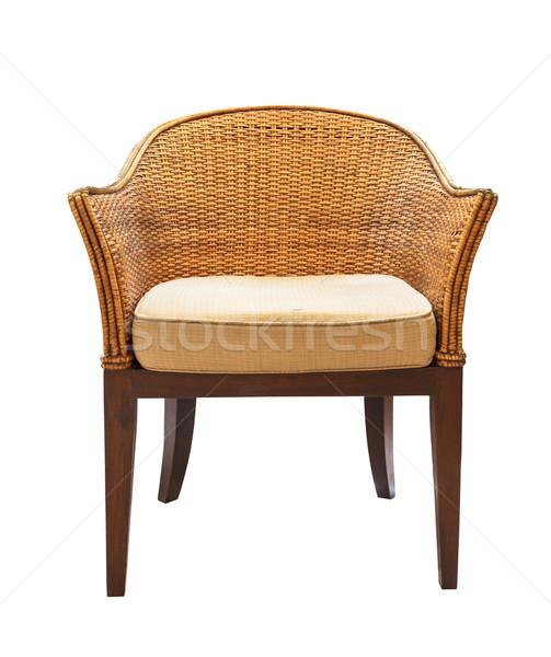 sofa furniture weave bamboo chair Stock photo © FrameAngel
