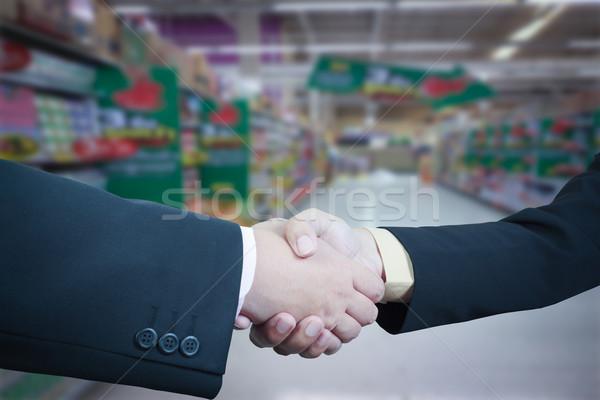 ビジネス ハンドシェーク ぼかし オフィス 手 ストックフォト © FrameAngel