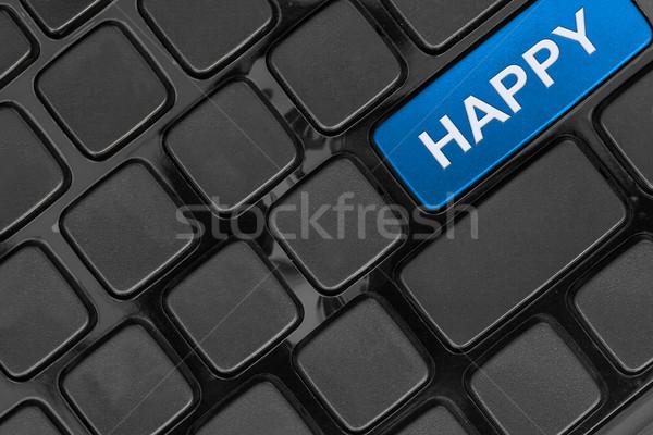 Сток-фото: клавиатура · тесные · мнение · счастливым · слово · фон