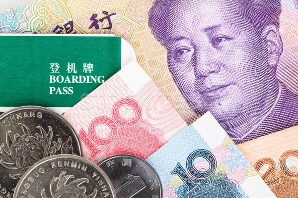 Chinese bankbiljetten geld munten valuta Stockfoto © FrameAngel