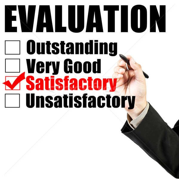 Evaluation form and hand check satisfactory Stock photo © FrameAngel