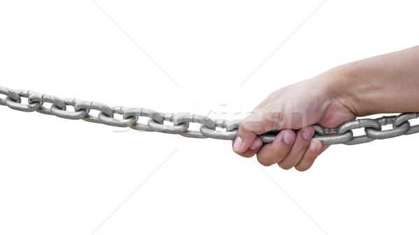 hand holding chain Stock photo © FrameAngel