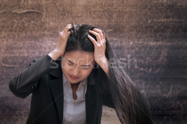 Asian business woman professional failed or upset in job or care Stock photo © FrameAngel