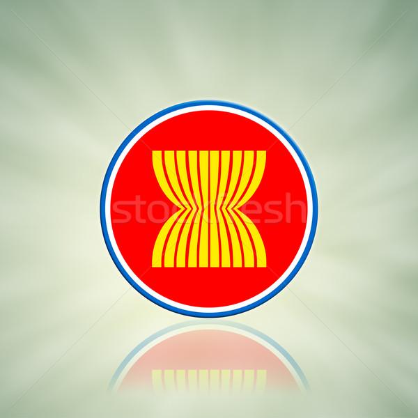 ASEAN Economic Community in businessman hand  Stock photo © FrameAngel