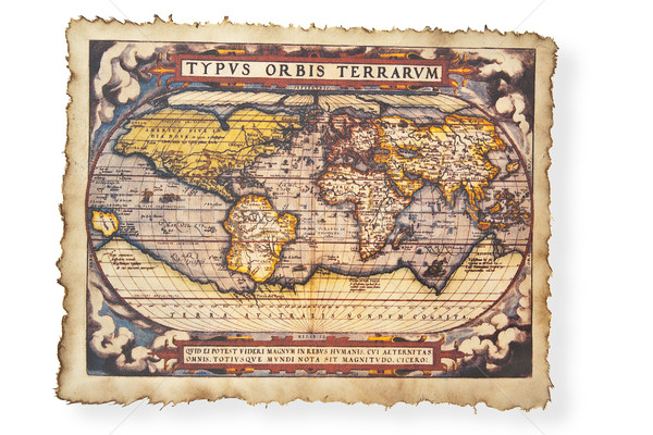 Antik térkép világ földgömb ősi Stock fotó © FrameAngel