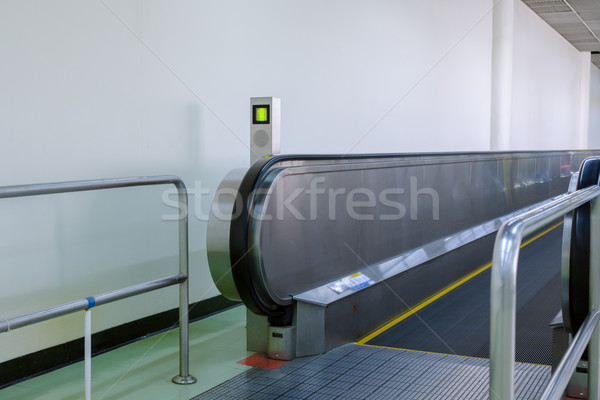 flat escalator for passengers transportation in airport Stock photo © FrameAngel
