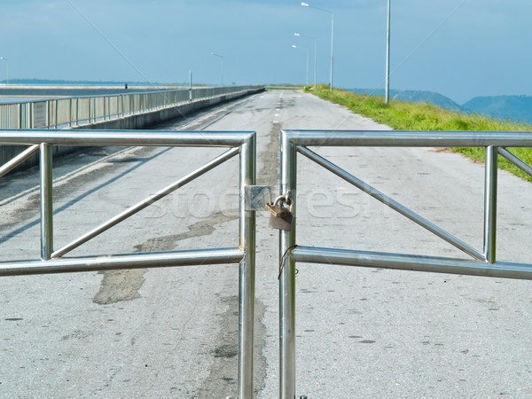 Double Lock for security of road Stock photo © FrameAngel