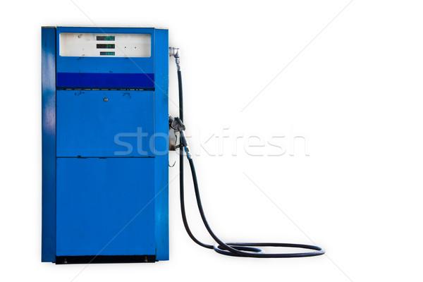 Velho gasolina bombear moda azul Óleo Foto stock © FrameAngel