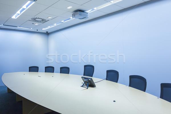деловое совещание комнату телефон бизнесмен почты оратора Сток-фото © FrameAngel