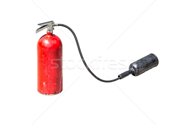 old fire extinguisher with head spray isolate on white backgroun Stock photo © FrameAngel