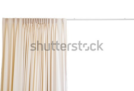 curtain with rail on white background Stock photo © FrameAngel