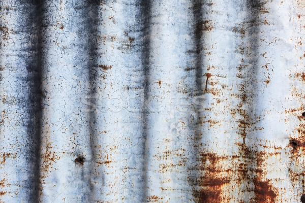 Paslı çinko soyut teknoloji kentsel plaka Stok fotoğraf © FrameAngel