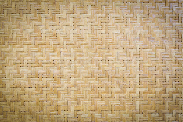 Bamboo wooden weave texture background Stock photo © FrameAngel