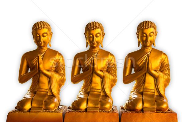 Buddha ogen god asian gebed witte Stockfoto © FrameAngel
