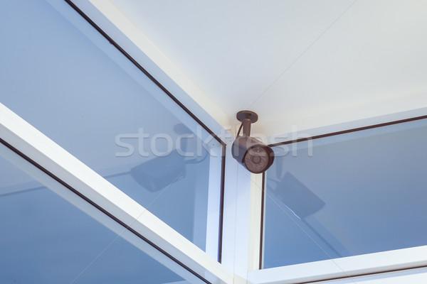 Cctv kamera biztonság fal szoba biztonság Stock fotó © FrameAngel
